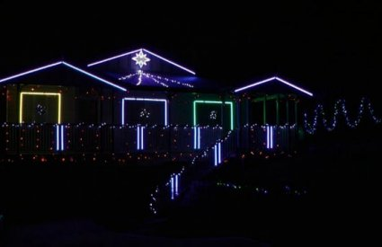 Nixay - Song Medley by The Nix's Christmas Lights 2011