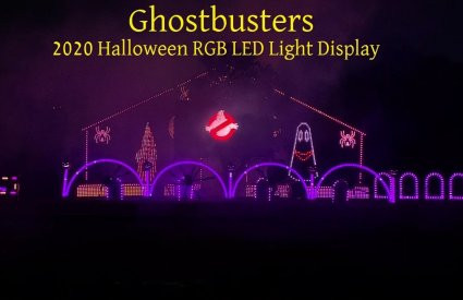 LawrenceDriveLights - Ghostbusters by Halloween Display