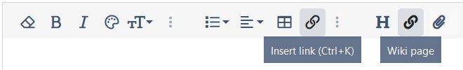 Wiki editor button tweaks