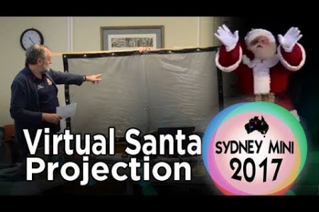 Sydney Mini 2017 - Virtual Santa Window Projection & Snow Machine