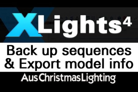 XLights 4 Webinar series: Backing up sequences