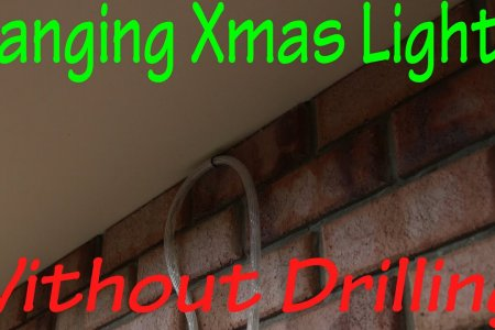 Hanging Christmas Lights Without Drilling in to Bricks - YouTube
