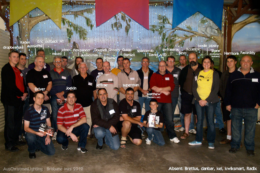 2012 Brisbane Mini attendees