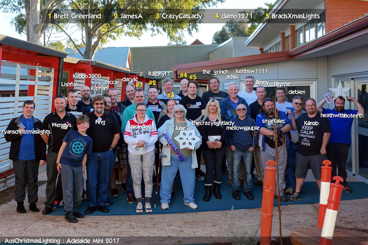 2017 Adelaide Mini attendees